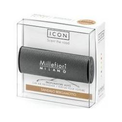 Millefiori Car Icon zapach samochodowy Urban Sandalo Bergamotto Czarny
