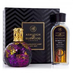 Zestaw Prezentowy Ashleigh & Burwood Lampa Zapachowa MAŁA Magenta Crush +Płyn  Moroccan Spice 250 ml