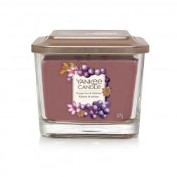 Yankee Elevation Grapevine & Saffron Średnia Świeca Zapachowa 3 knoty  Jesień