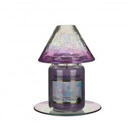 Zestaw Savoy Purple klosz + podstawka do świec Yankee Duży Fiolet