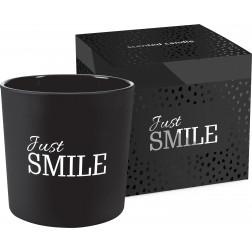 Świeca zapachowa Just Smile matowe szkło/ super design!
