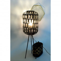 Lampa na nóżkach CEDRIC czarna industrialna