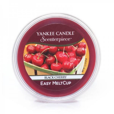 Wosk do kominków elektrycznych Yankee Black Cherry Melt Cup Scenterpiece Wiśnia